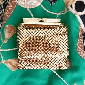 Vintage Gold Coco Dior Mini Coin Purse